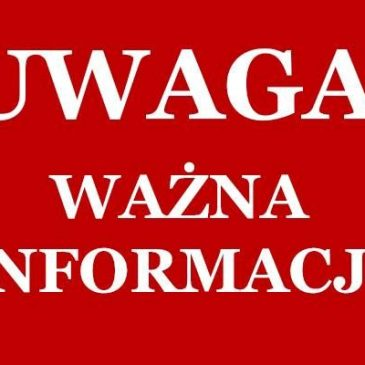 UWAGA!  PRZESUNIĘCIE TERMINÓW KONKURSÓW
